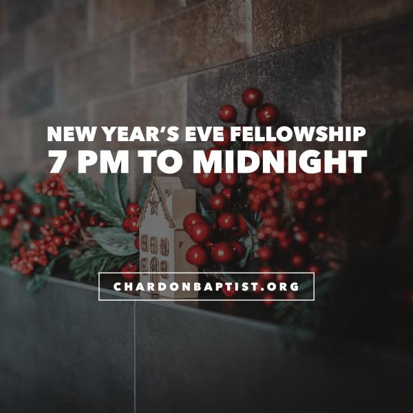 New Year's Eve Fellowship
